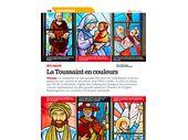 Une double page dans L'1visible de la Toussaint