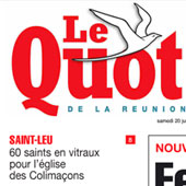 En couverture du Quotidien de l'Île de La Réunion